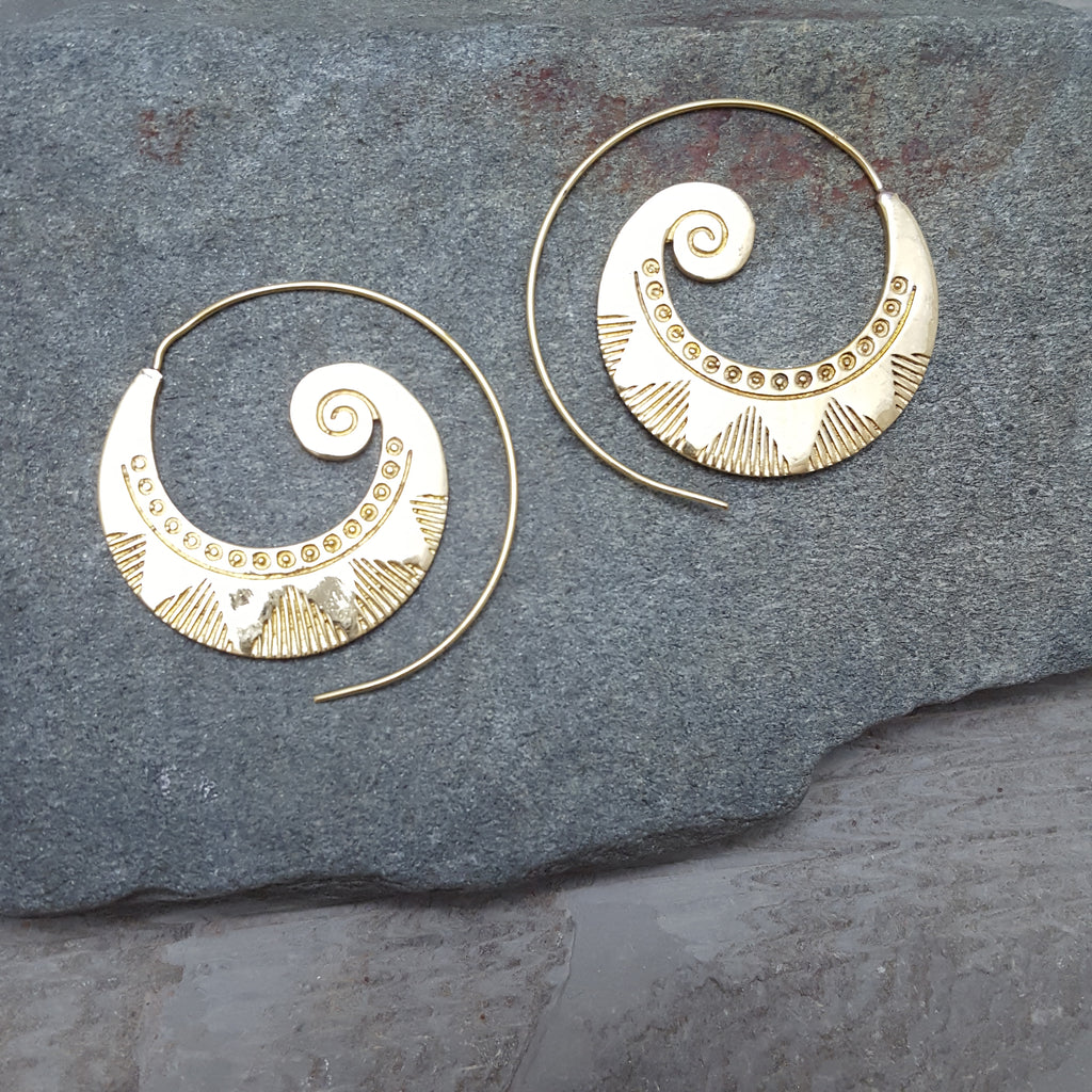 Sun Wave Earring