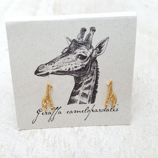 Front of Gold Giraffe Earring Card