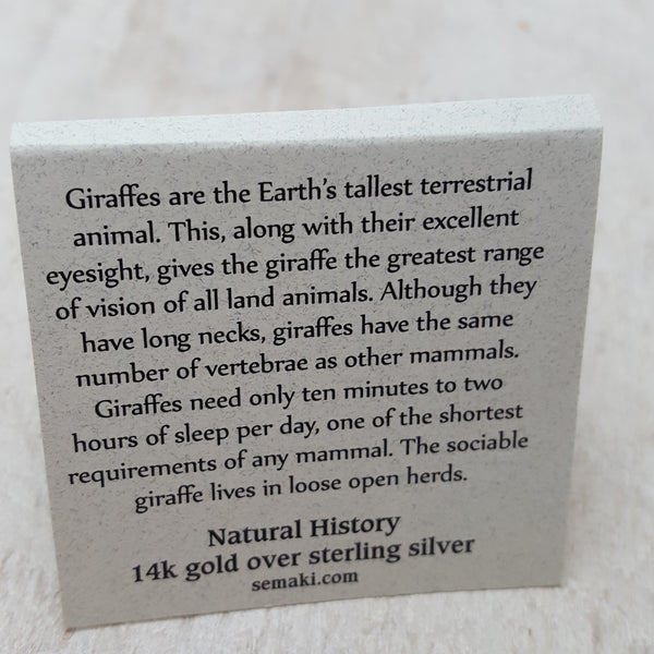 Back of Giraffe Card