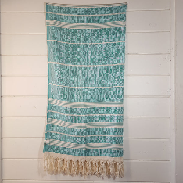 Basic Diamond Turkish Towel in Mint