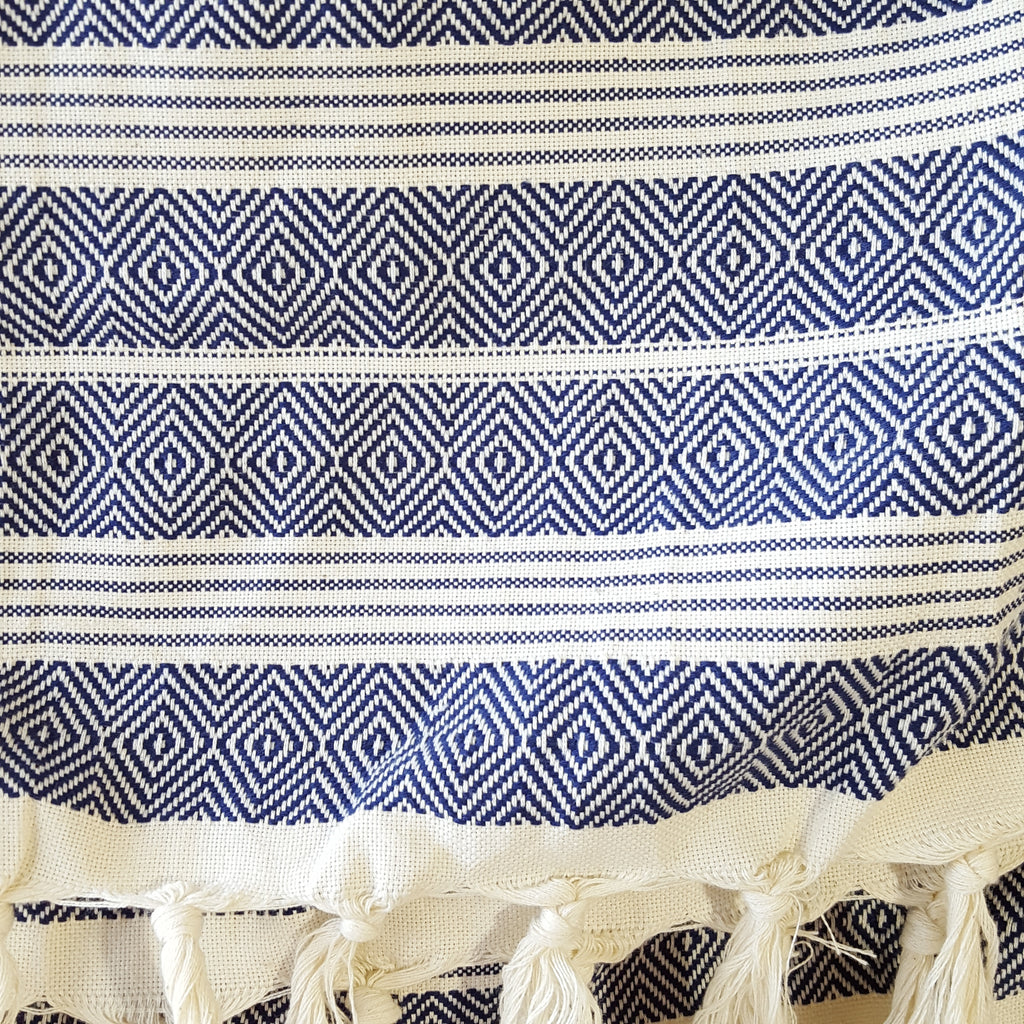 Detail of Basic Diamond Throw in Navy
