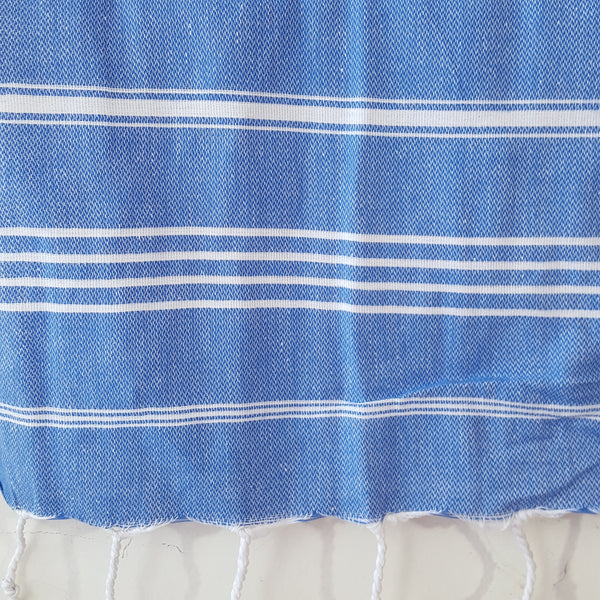 Close up of Sultan Hand Towel in Blue