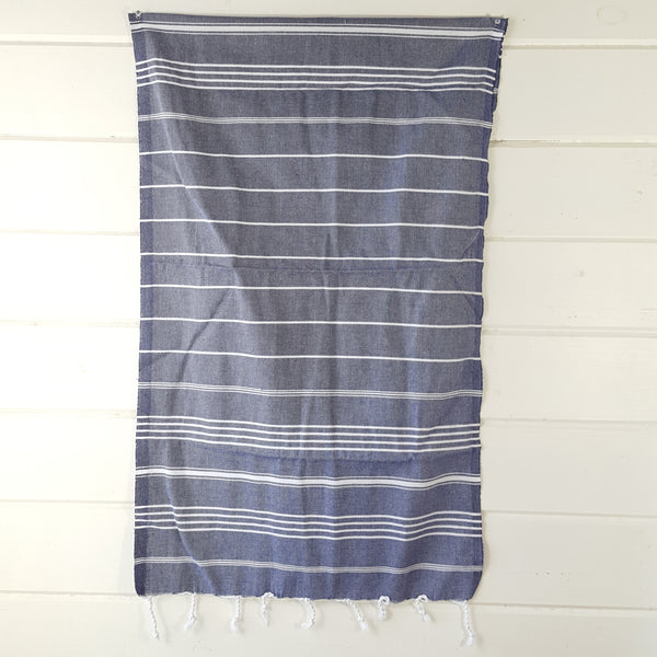 Sultan Hand Towel in Navy