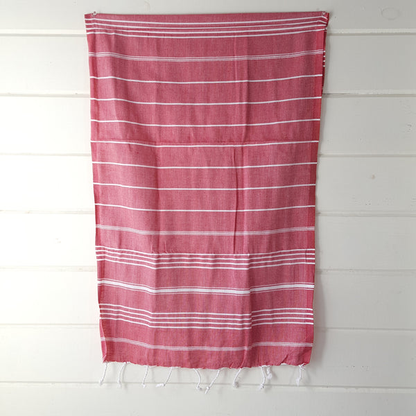 Sultan Hand Towel in Red