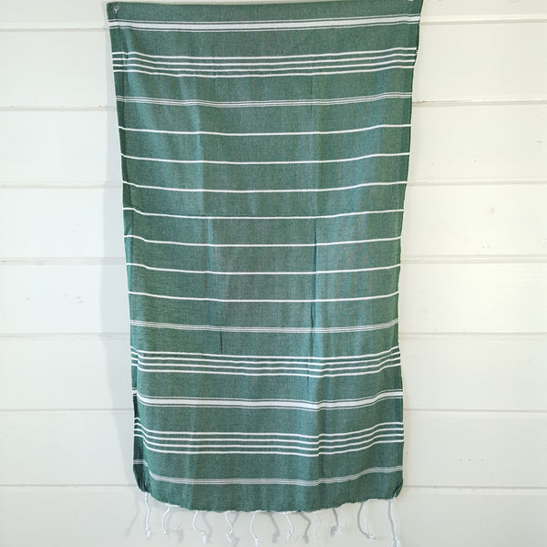 Sultan Hand Towel in Dark Green