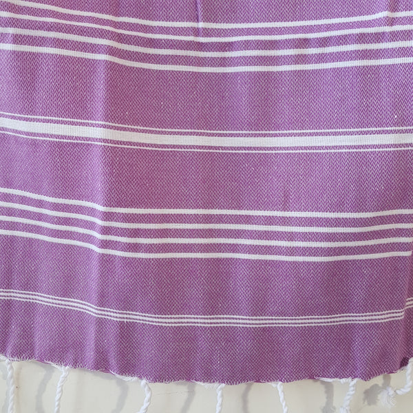 Close up of Sultan Hand Towel in Purple