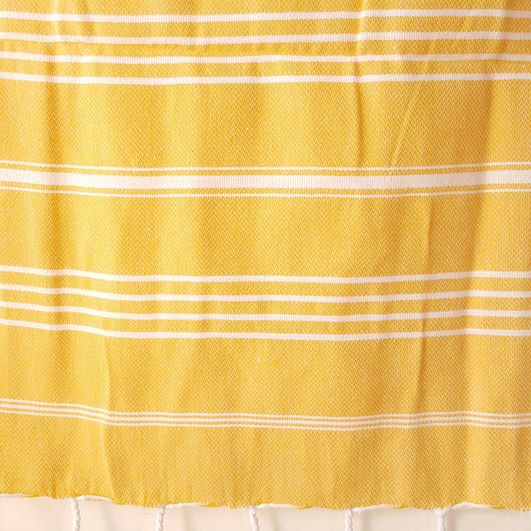 Close up of Sultan Hand Towel in Yellow