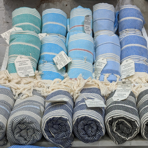 Different Colors of Turkish Towels available.