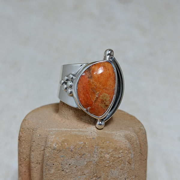 granulation ring in coral front view