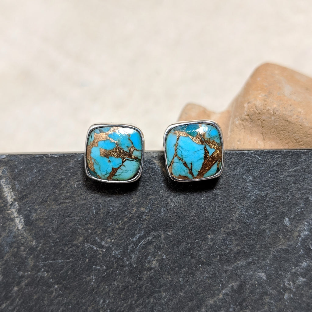 Turquoise with Bronze Stud front
