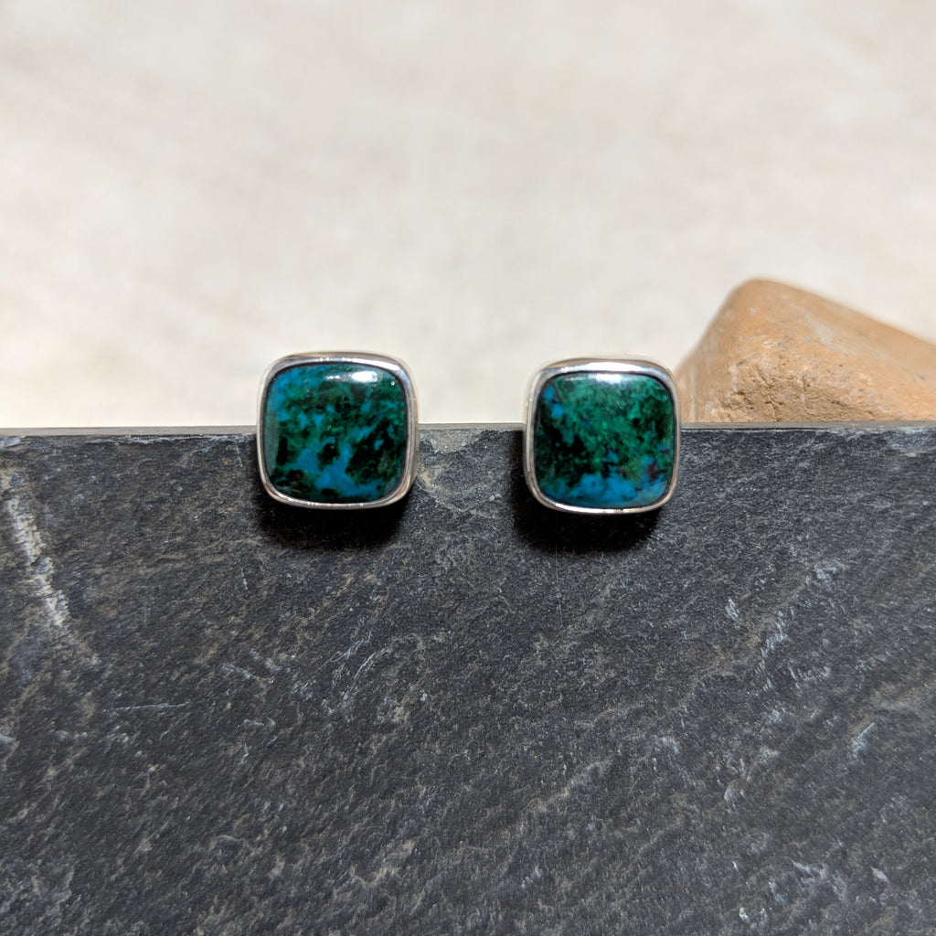 Chrysocolla Stud front