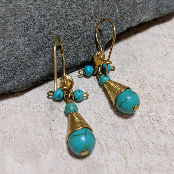 back of turquoise princess earrings