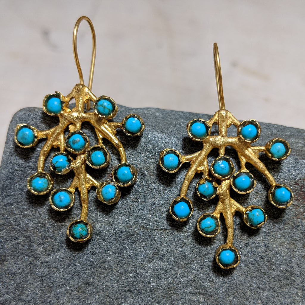 Blueberry Branch Earrings