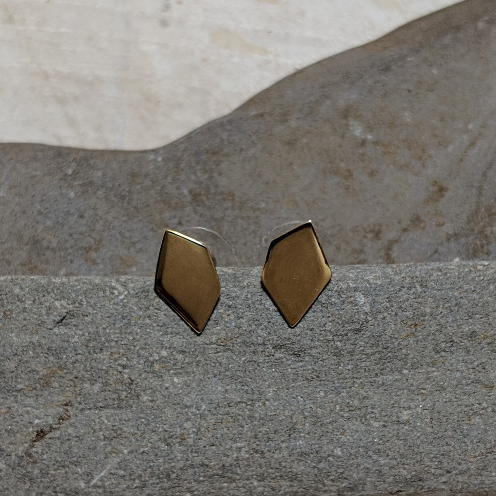front view of gia  stud earrings