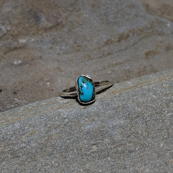 Jackie Stone Stacker ring with turquoise in sterling silver