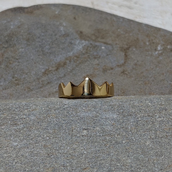 front of gold miranda crown ring