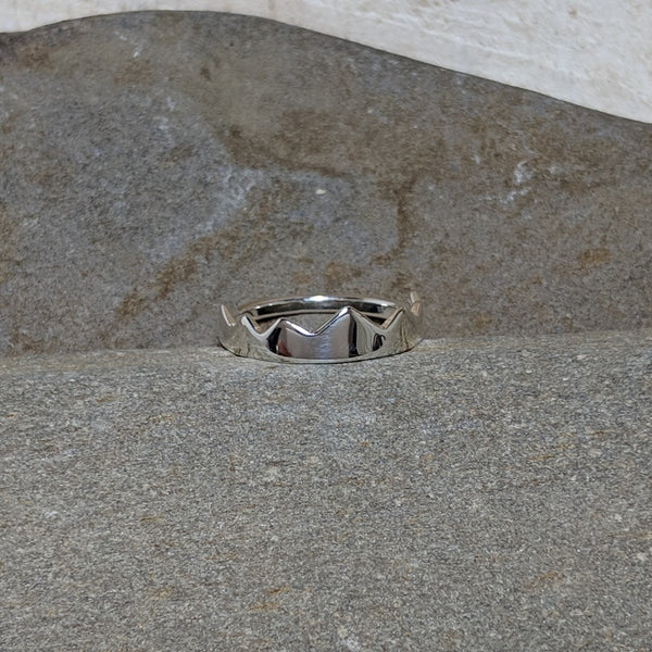 front of silver miranda crown ring