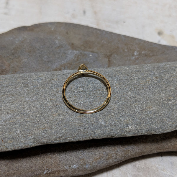 back of gold diamond stacking ring
