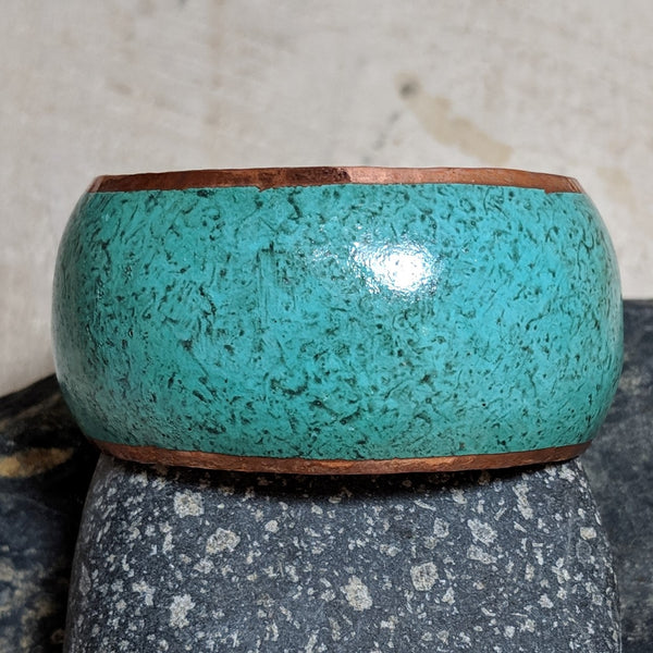 front view of patina cuff