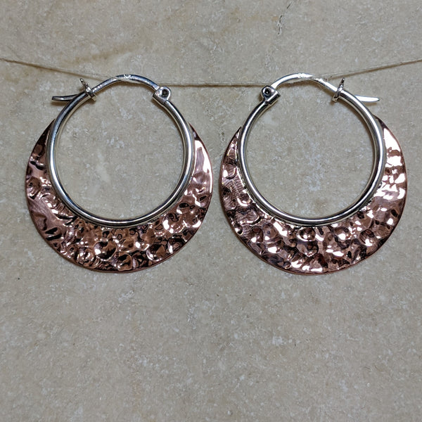 hoops with hammered copper blades