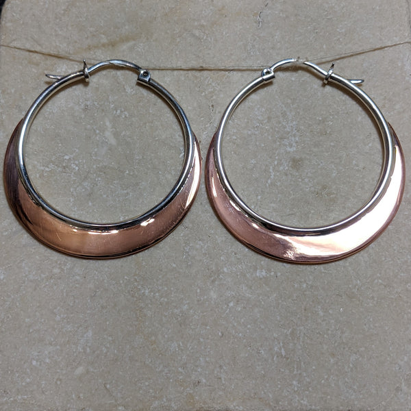 large hoops with tapered copper blades