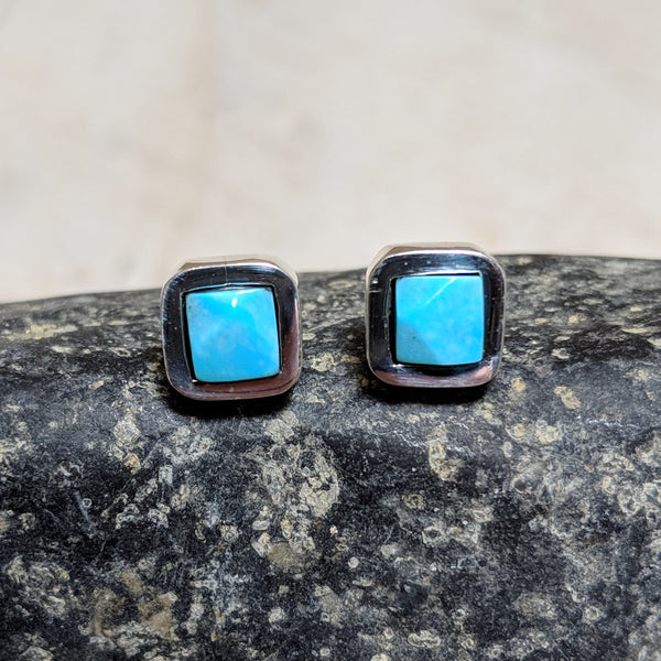 faceted turquoise stud earrings