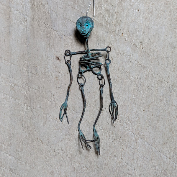 small oxidized skeleton