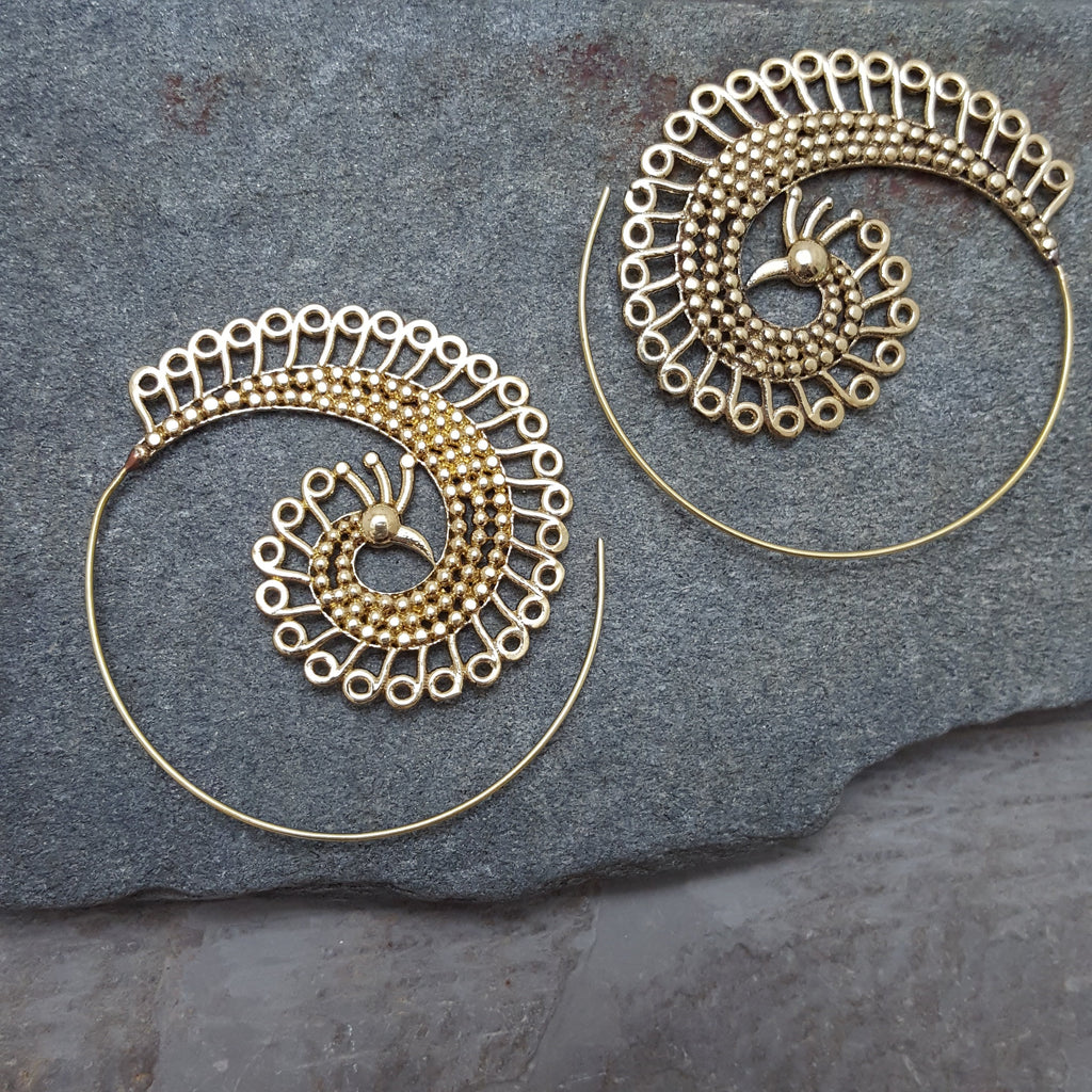 King Peacock Earrings