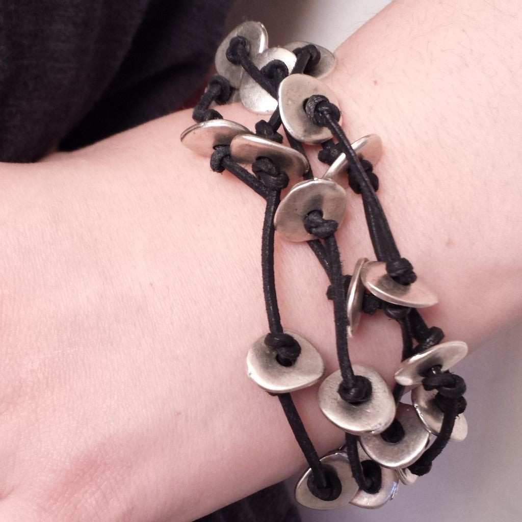 Mystery bracelet in black on model