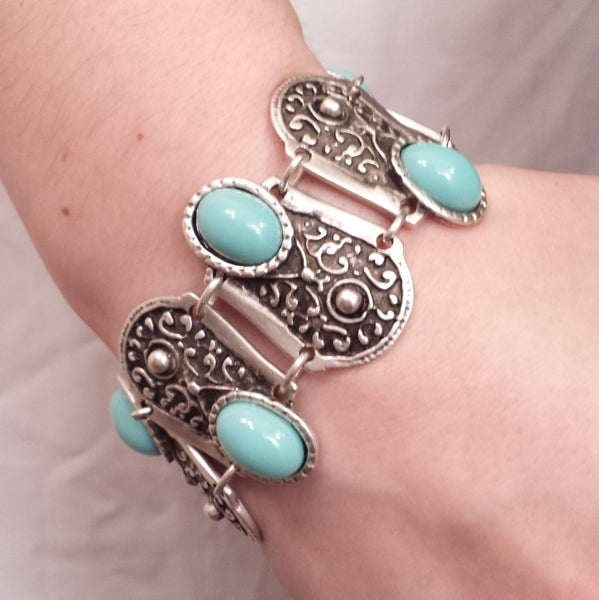 Defense Bracelet in Blue on model
