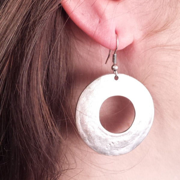 Donut Earring on model