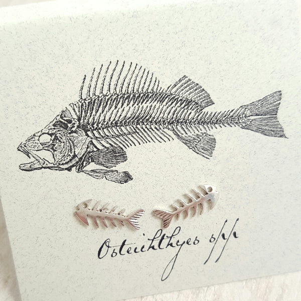 Silver Fish earring card