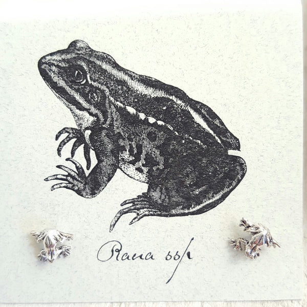 Silver Frog earring card