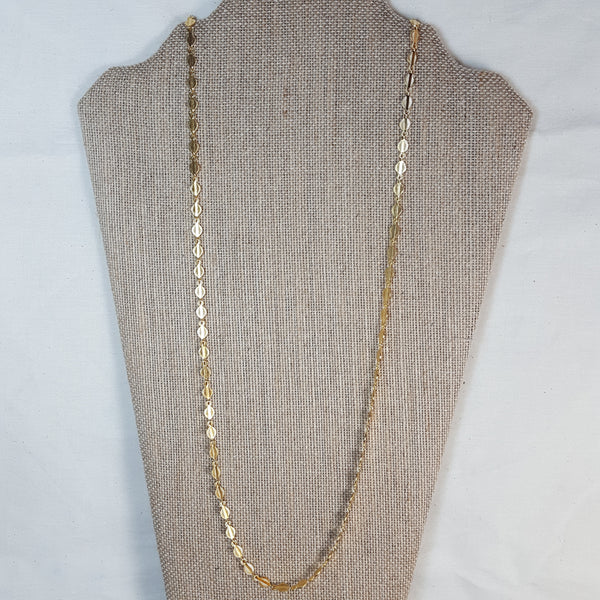 long gold spades necklace