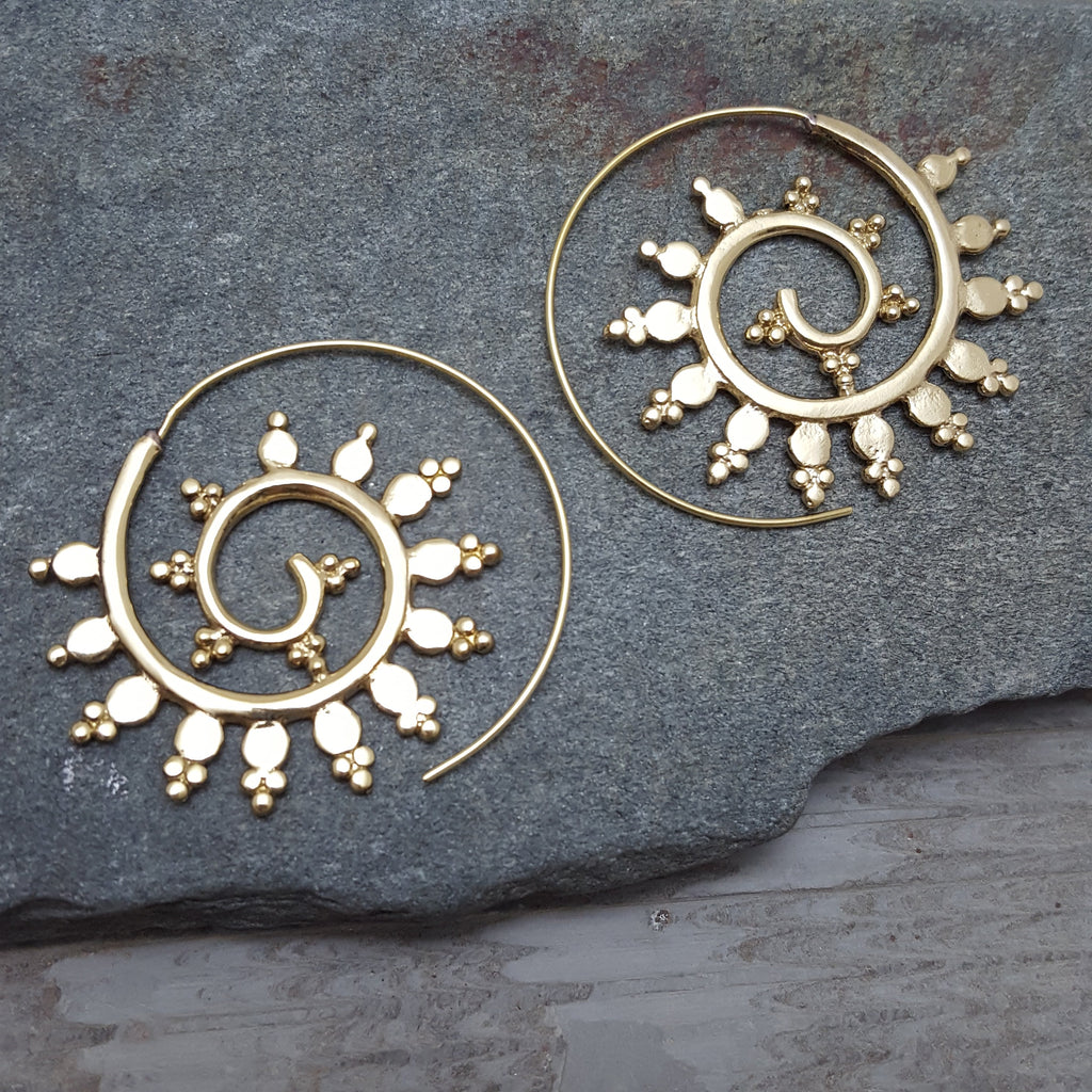 Frosty Spiral Earrings