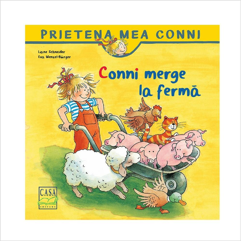 Conni merge la ferma - jucarii educative si carti educative Pupo