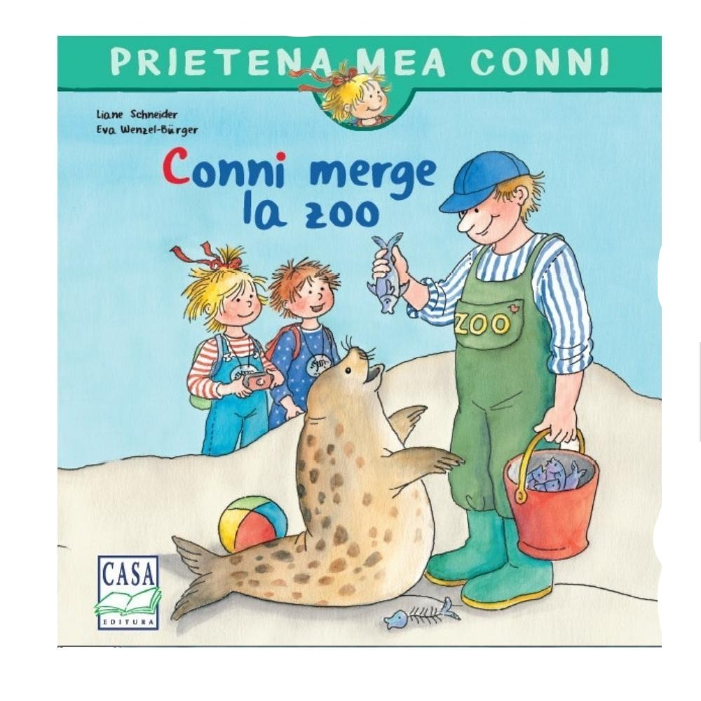 Conni merge la Zoo - jucarii educative si carti educative Pupo