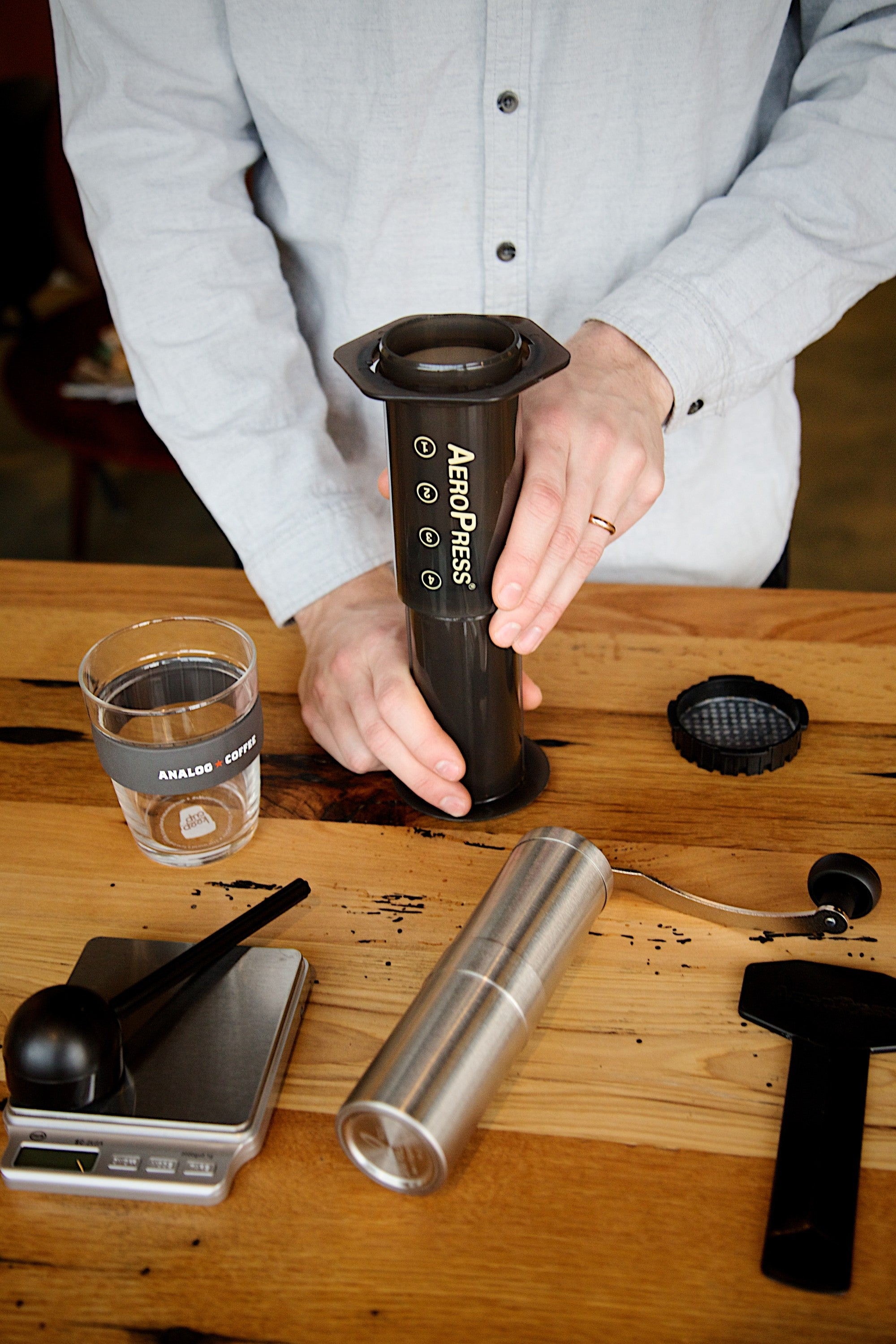 Position the Aeropress