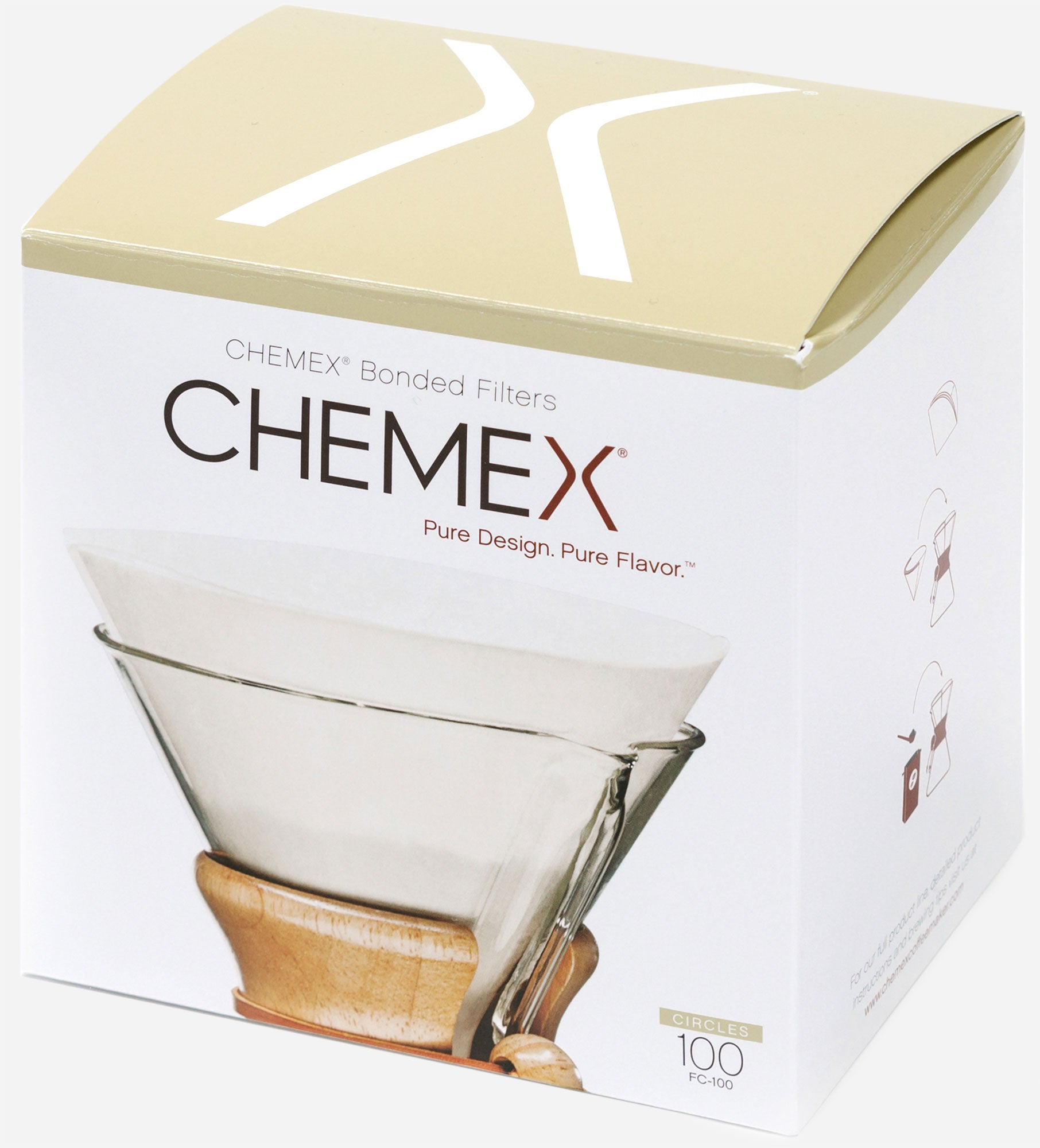 Chemex Folded Filter Circles for 6 Cup (pack of 100)