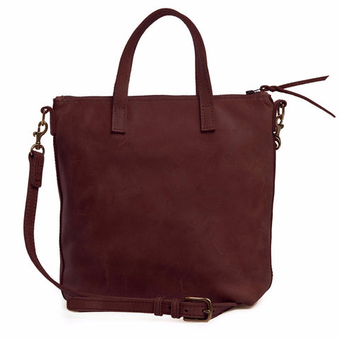 Abera Leather Commuter Burgundy