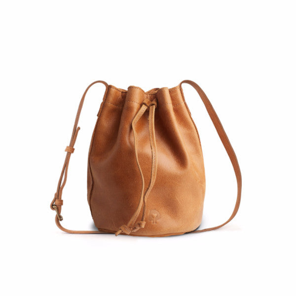 Tadesse Leather Mini Bucket Bag Cognac