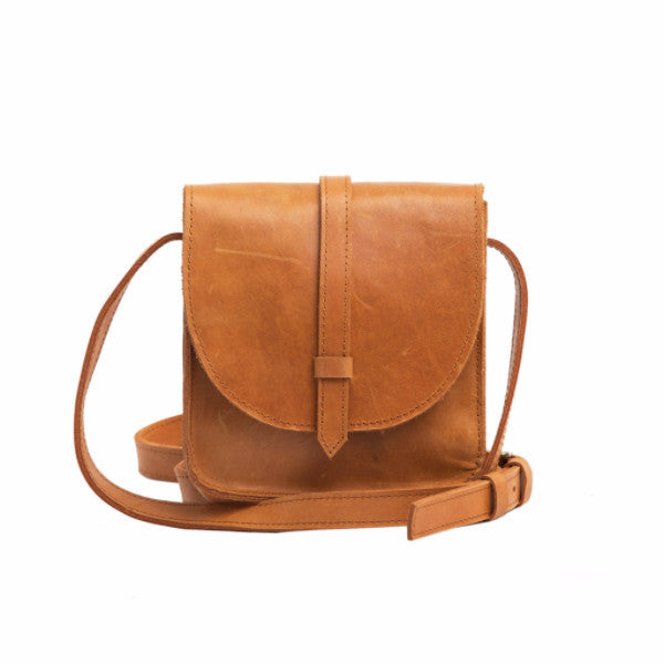 Mini Tirhas Leather Crossbody Cognac