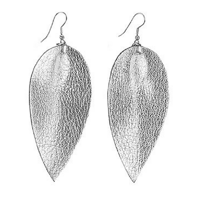 Zia Leaf Earrings Silver