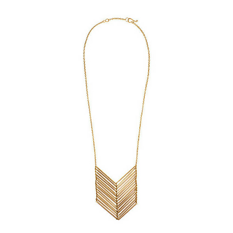 chevron necklace in gold