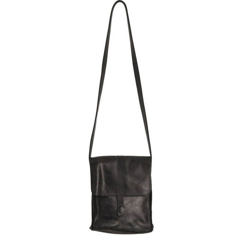 Kerem Leather Crossbody Bag Black