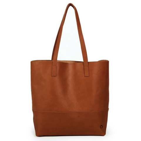 Mamuye Leather Tote Chestnut Brown