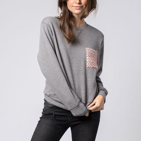 Pocket Crew Sweater Grey