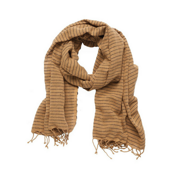 Shegaw Scarf Golden Brown + Black