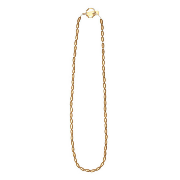 Soresa: Simple Bullet Bead Necklace- Gold