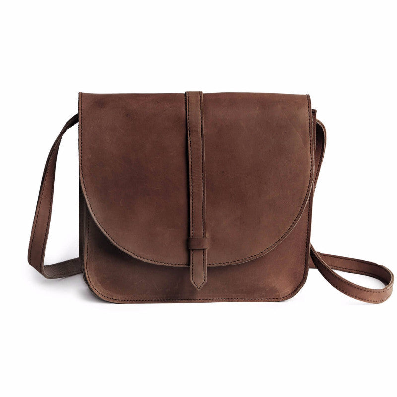 Tirhas Leather Crossbody Chocolate Brown